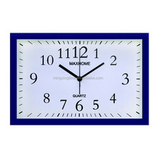 ABS plastic square quartz table alarm clock also can be wall clock with PVC dial