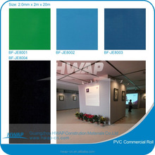 Solid color pvc anti slip vinyl roll flooring color