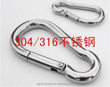 Manufacturer factory price high quality rustless steel carabiners