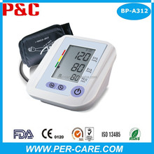 New Large LCD Displasy 199 memories Upper Arm Blood Pressure Monitor Original Blood Pressure Monitor Factory Supplier