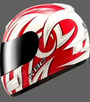 KBC TK8 Swirl full face motorcycle helmet Red