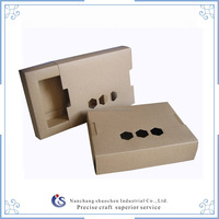 recycled empty kraft paper gift box with hollow