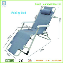 Cheap portable folding bed with fashion design