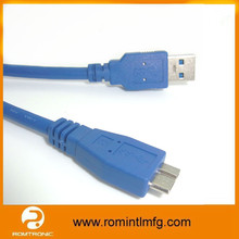 High Speed Micro USB 3.0 Cable for Samsung Galaxy Note 3 and Hard Disk, USB 3.0 AM to Micro BM Cable