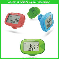 Time display sports products in stock wholesales digital pedometer with belt clip
