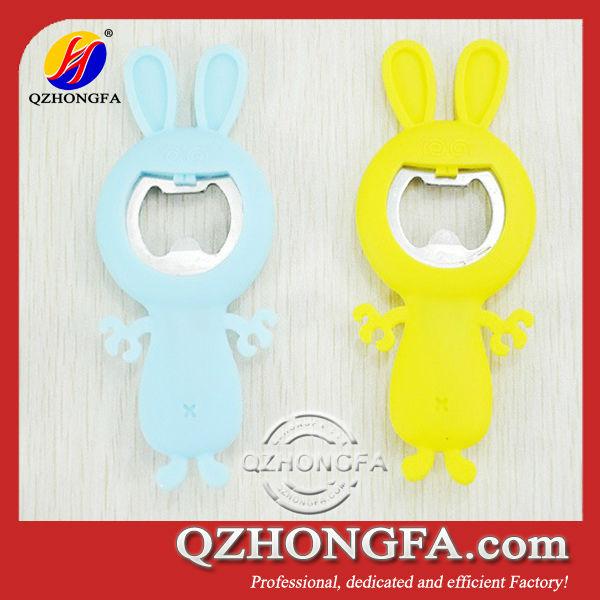 cute rabbit silicone bottle opener