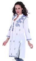 Fine quality Indian Women's Cotton Lakhnavi Chikankari Kurti// amazing Women Kurti