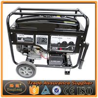Chinese Made Popular Sales 15hp 6.5kw Gasoline Generator With Wheel Kit For Sale