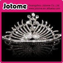 Silver Bridal Diamante Crystal Rhinestone Wedding Peacock Tiara Hair Piece Comb
