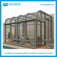 outdoor aluminum frame glass room for pool garden sun room