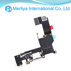 For Iphone 5S Charging Port Dock Connector Headphone Jack Mic Flex Cable Original replacement