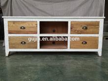 Salón promoción muebles apenada blanco antiguo olmo natural madera entretenimiento unidad