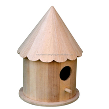 Factory wooden new design decorated bird house, fsc promotion new cheap wooden bird house wholes