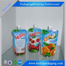 Reusable Food Spout Pouch / Juice Drink Spout Pouch Bag / Liquid Stand Up Pouch with Spout Packaging