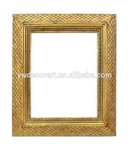 antigüedades de estilo europeo de hoja de oro plaza de marco de imagen