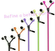2014 New Fashion Style Stereo Zipper headphone Earphone with Mic and Volume Fresh Earbuds Premium Zipper Earphones