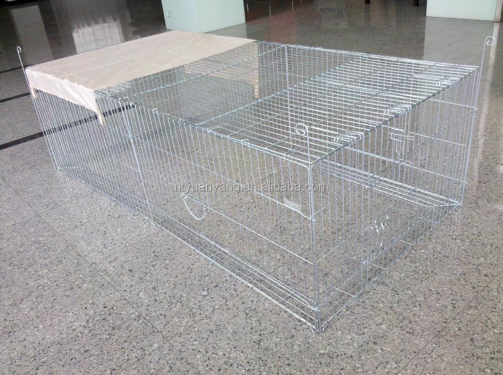 wire pet barrier zinc color