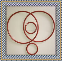 red rubber O-ring seals silicone rubber product