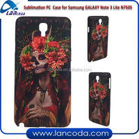 New design sublimation mobile phone case for Samsung GALAXY Note 3 neo Lite N7505,sublimation phone cover,3d sublimation case