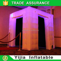Custom made led wedding used inflatable portable photo booth for sale