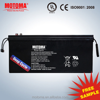 12V200AH Maintenance free seal lead acid rechargeable AGM VRLA type solar battery