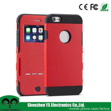Auto lock screen flip mobile case, for case leather iphone 6