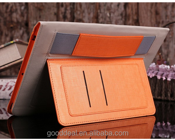 for Ipad 4 Tablet Pc Leather Case with Auto Sleep Wake Red PU Leather Case