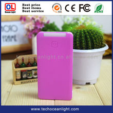 colorful portable charger 5200mAh power bank with Micro USB cable