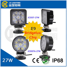 high brightness led 12v uv lamp, E9 certificte 27w led work light for 4x4 accessory lighting system