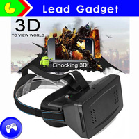 2016 Brand New High Quality Virtual Reality 3D Glasses Headset VR 3D Glasses Head Mount For iPhone 6 For Mobile Games