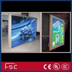 backlit poster printing aluminium light snap frame for illuminated menu boards