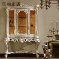 Muebles de diseño de Italia-de oro lámina de la hoja dorado a mano de lujo tallado cellaret