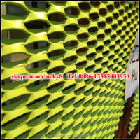 Curtain Wall Aluminum Powder Coating Expanded Metal/Aluminum expanded metal mesh