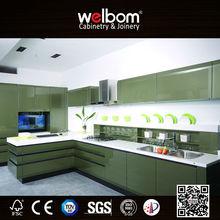 Welbom Glossing Stainless Steel Kitchen Cabinets Design