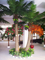 2014 hotsale Factory low price good quality natural look artificial coconut palm tree for indoor or outdoor decoration