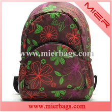 youth lightweight folding printing flowers sports outdoor travel hiking backpack waterproof bag