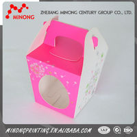 Economical custom design cupcake boxes cake gift box
