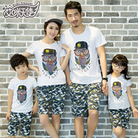 hot sale casual style holiday woman clothes set family clothing sets