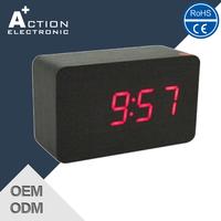 Digital Desk Clock and Wooden Alarm Clock