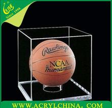 clear 3mm acrylic basketball box, transparent plexiglass basketball display with 280*280*330mm