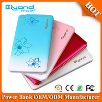 Shenzhen power bank factory OEM custom logo and print slim powerbank