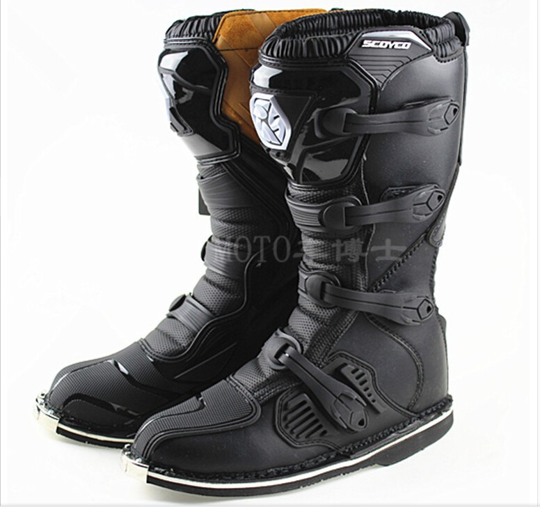 Free Shipping Scoyco MBM001 Leather Motorcycle Boots Sport Cycling Boo