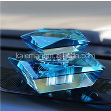 Color Beautiful Crystal Glass Perfume Bottle for Car decorate