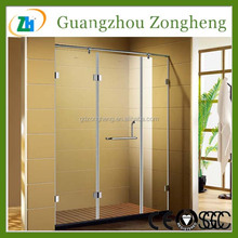 Popular Commercial Residential Vertical Folding Tempered Glass Shower Partitions