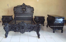 Rococo Bed Set Vintage Wooden Bed Antique Reproduction Furniture French Provincial Bed Room European Style Home Furniture