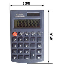 Promotional Gift 8 Max Plastic Material Digit Solar Powered Desktop Calculator