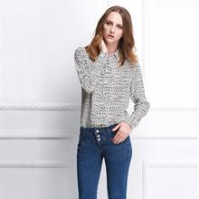 Venta de la fábrica 2016 diseño moda casual nueva para mujer con estilo camisa de la oficina