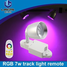 Langma 60degree beam angle party lamp stage spotlight rgb+white color changeable remote control rgb led track lamp