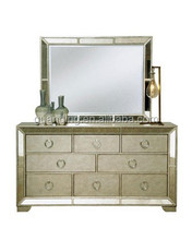 multi drawers glass mirror cabinet with for home/hotel mirrored furniture
