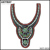 2015 Bridal Motif African Style Neckline with Ethnic Beads MOT-0838